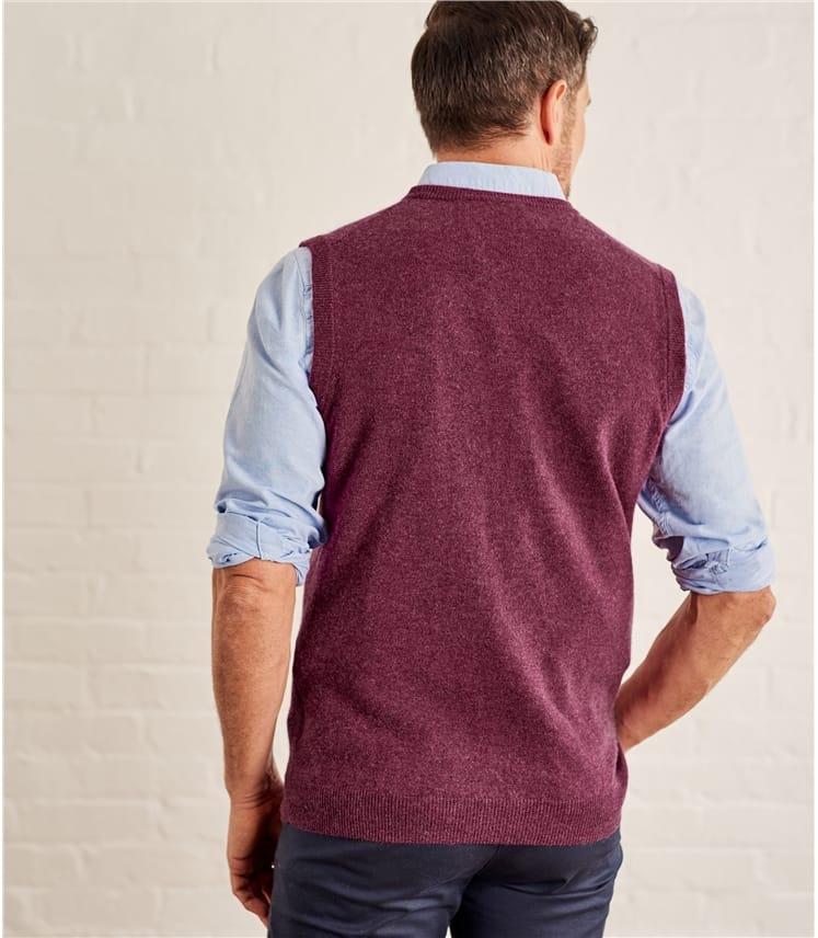 Mens Cashmere and Merino Vest