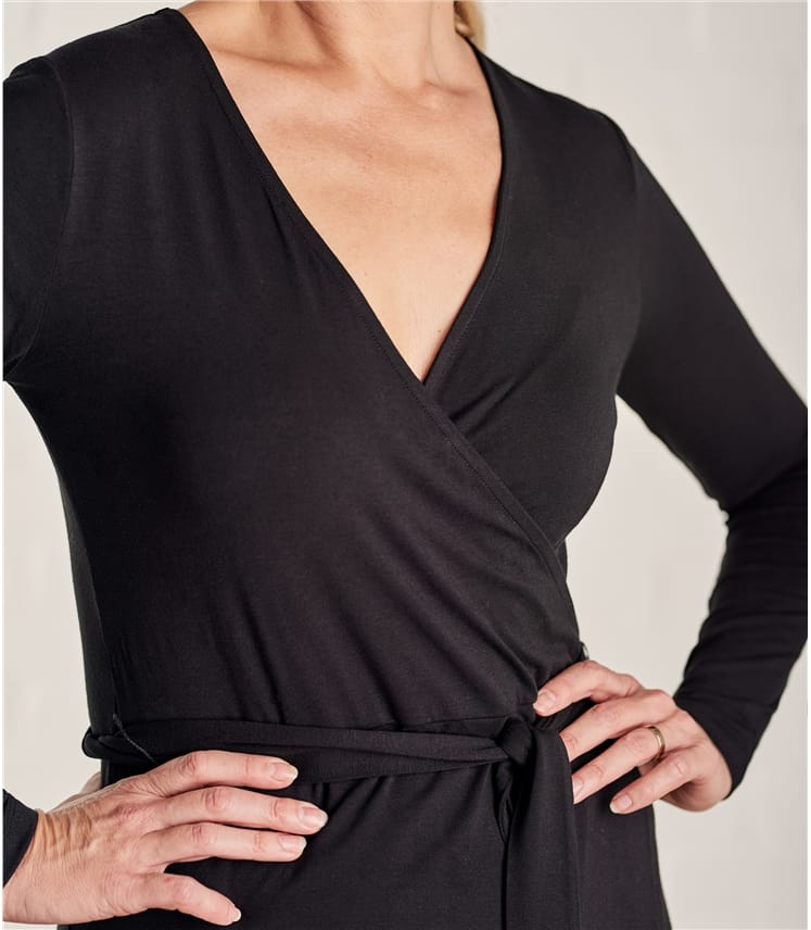 Womens Jersey Wrap Dress