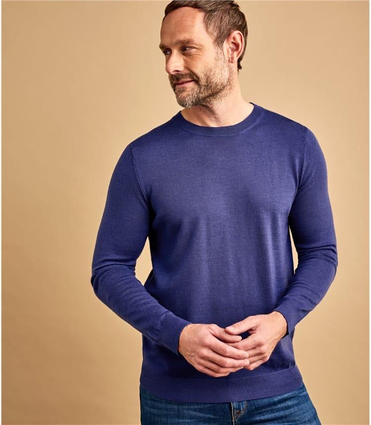 Mens New Merino Crew Neck Sweater